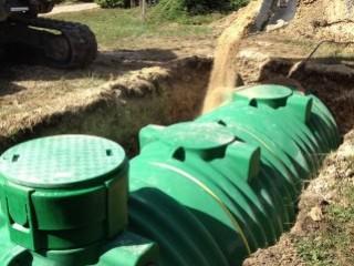 Installation d'une cuve de récupération d'eau de pluie à Chartrettes (77)
