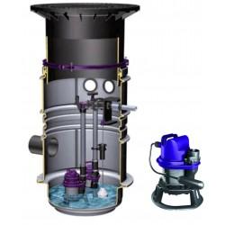 Poste de relevage Aqualift F (Eaux usées) - 1 pompe STZ 1000 AUT - P2