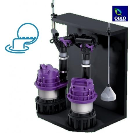 Kit puisard 2 pompes eaux pluviales